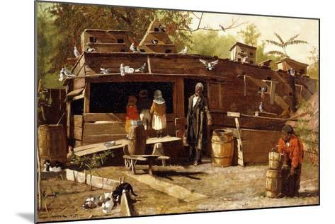 Uncle Ned at Home, 1875-Winslow Homer-Mounted Giclee Print