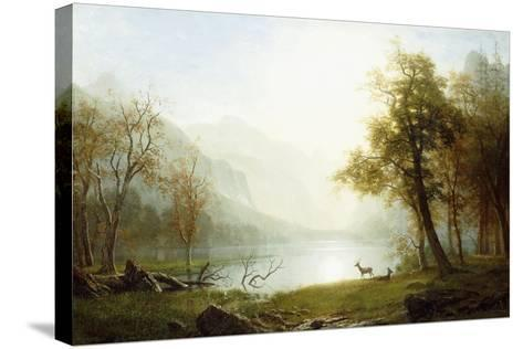 Valley in King's Canyon-Albert Bierstadt-Stretched Canvas Print