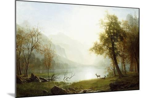 Valley in King's Canyon-Albert Bierstadt-Mounted Giclee Print
