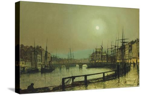A Moonlit Harbour, 1883-John Atkinson Grimshaw-Stretched Canvas Print