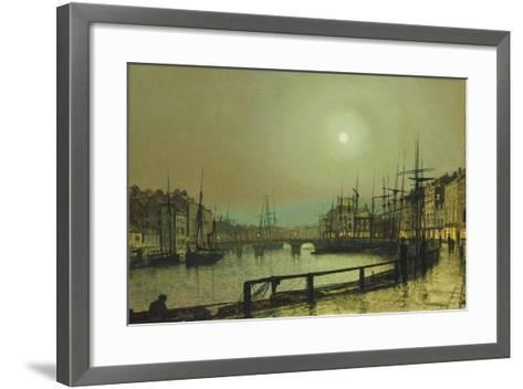 A Moonlit Harbour, 1883-John Atkinson Grimshaw-Framed Art Print