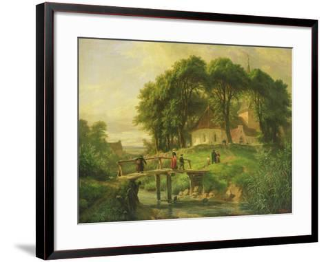 Going to Church in Alt-Rahlstedt, 1861-Otto Speckter-Framed Art Print