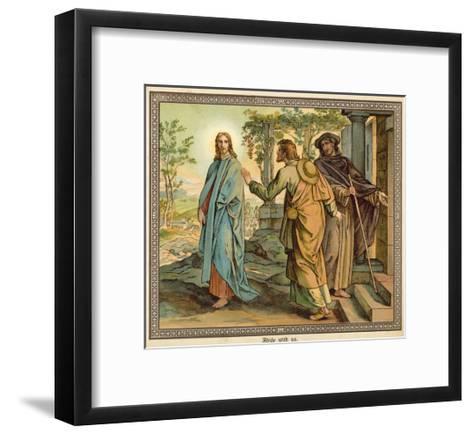 Abide with Us--Framed Art Print