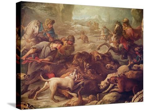The Bear Hunt-Carle van Loo-Stretched Canvas Print