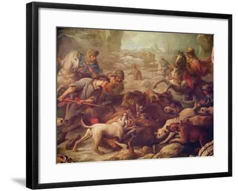 The Bear Hunt-Carle van Loo-Framed Art Print