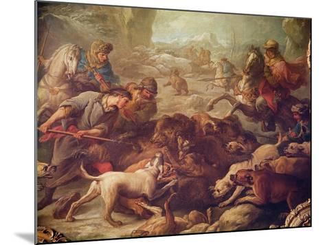 The Bear Hunt-Carle van Loo-Mounted Giclee Print