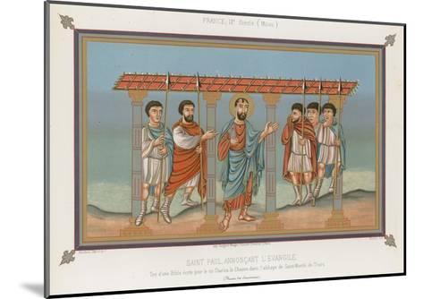 Saint Paul Announcing the Gospel--Mounted Giclee Print