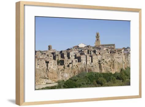 The Town of Pitigliano, Maremma, Tuscany, Italy--Framed Art Print