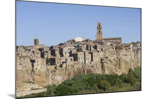 The Town of Pitigliano, Maremma, Tuscany, Italy--Mounted Photographic Print