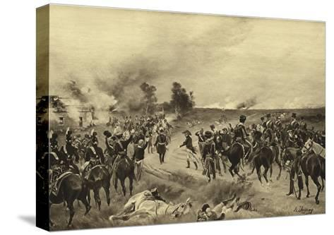 Battle of Waterloo, 1815-Henri-Louis Dupray-Stretched Canvas Print