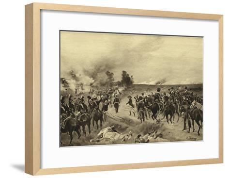 Battle of Waterloo, 1815-Henri-Louis Dupray-Framed Art Print