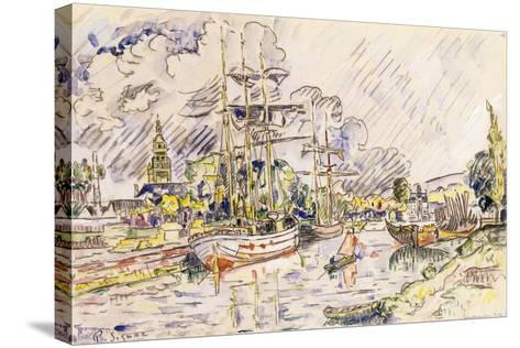 The Port of Landerneau, 1921-Paul Signac-Stretched Canvas Print