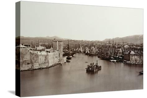 The Port of Marseille, C.1859-Edouard-Denis Baldus-Stretched Canvas Print