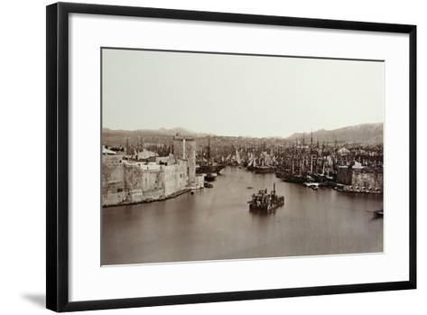 The Port of Marseille, C.1859-Edouard-Denis Baldus-Framed Art Print