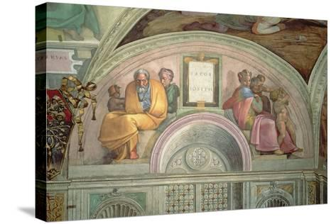 Jacob and Joseph, Sistine Chapel--Stretched Canvas Print