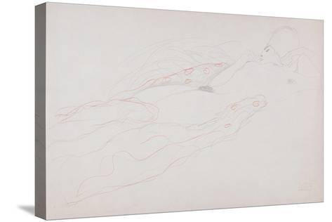 Reclining Nude-Gustav Klimt-Stretched Canvas Print