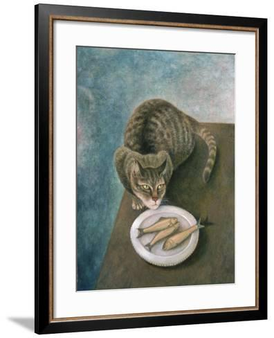 Emily with Three Trout-Patricia O'Brien-Framed Art Print