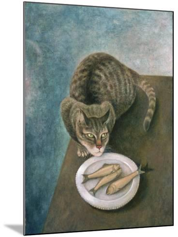 Emily with Three Trout-Patricia O'Brien-Mounted Giclee Print