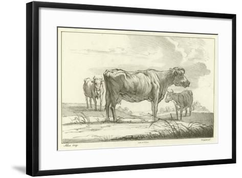 Three Cows-Aelbert Cuyp-Framed Art Print