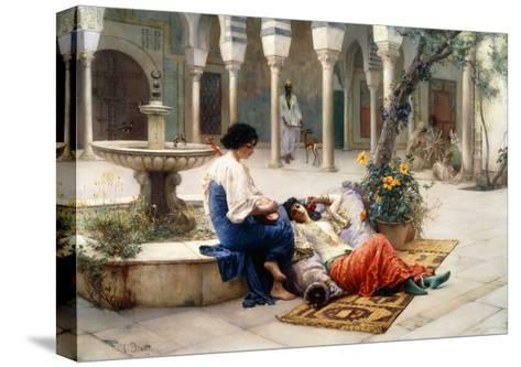 In the Courtyard of the Harem-Max Ferdinand Bredt-Stretched Canvas Print
