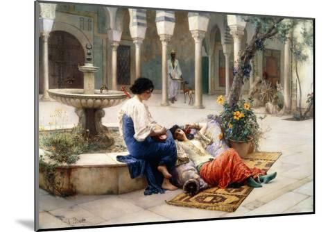 In the Courtyard of the Harem-Max Ferdinand Bredt-Mounted Giclee Print