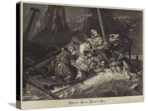 Shipwrecked Mariners Attacked by Bears--Stretched Canvas Print
