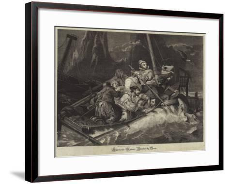 Shipwrecked Mariners Attacked by Bears--Framed Art Print