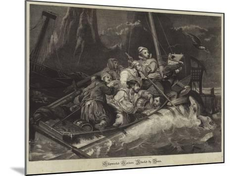 Shipwrecked Mariners Attacked by Bears--Mounted Giclee Print