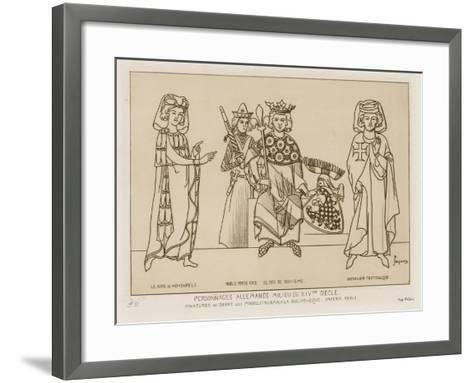 German People in the Mid 14th Century-Raphael Jacquemin-Framed Art Print