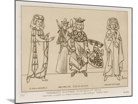 German People in the Mid 14th Century-Raphael Jacquemin-Mounted Giclee Print