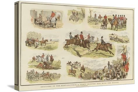 Sketches in the Hunting Field-John Charlton-Stretched Canvas Print