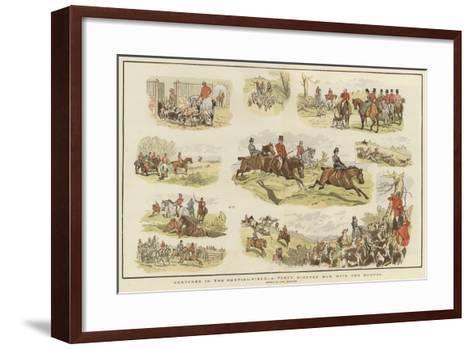 Sketches in the Hunting Field-John Charlton-Framed Art Print