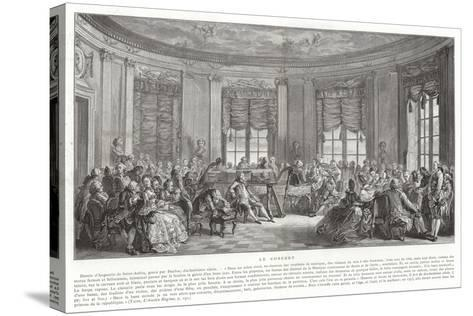 The Concert-Augustin De Saint-aubin-Stretched Canvas Print