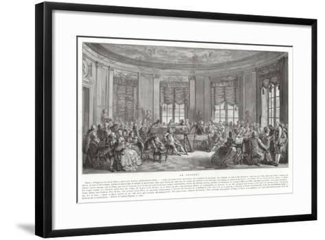 The Concert-Augustin De Saint-aubin-Framed Art Print
