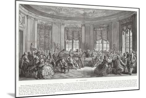 The Concert-Augustin De Saint-aubin-Mounted Giclee Print