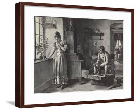 The Farewell--Framed Art Print
