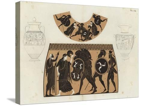 Greek Vase Painting--Stretched Canvas Print