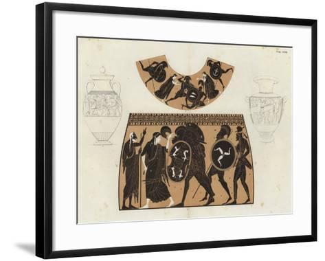 Greek Vase Painting--Framed Art Print