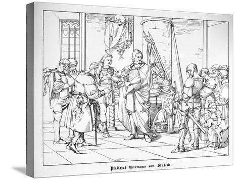The Count Palatine Herrmann of Staleck-Alfred Rethel-Stretched Canvas Print