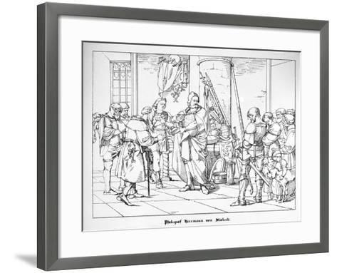 The Count Palatine Herrmann of Staleck-Alfred Rethel-Framed Art Print