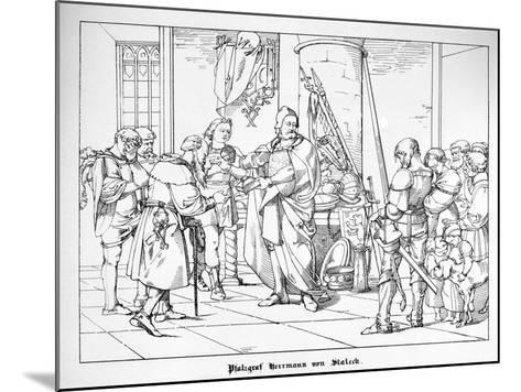 The Count Palatine Herrmann of Staleck-Alfred Rethel-Mounted Giclee Print