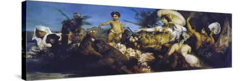 Cleopatra on Nile, Circa 1875-Hans Makart-Stretched Canvas Print