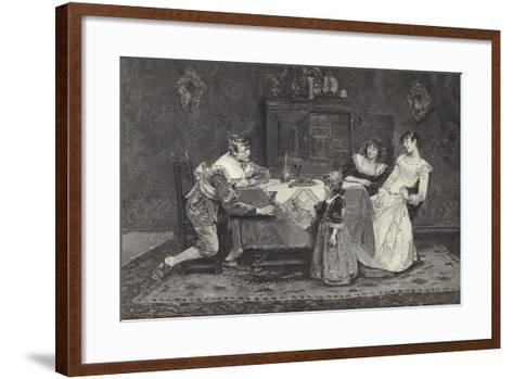 Good Health, Papa--Framed Art Print