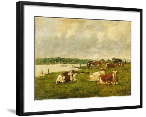The Valley of the Touques, 1887-Eug?ne Boudin-Framed Art Print
