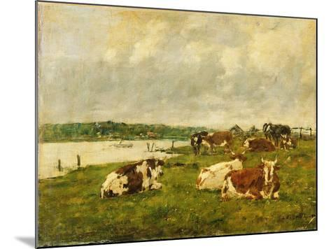 The Valley of the Touques, 1887-Eug?ne Boudin-Mounted Giclee Print