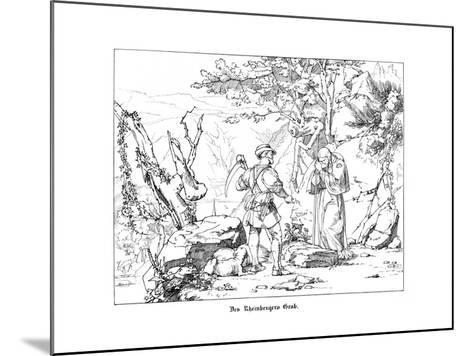 The Rheinberger's Grave-Alfred Rethel-Mounted Giclee Print
