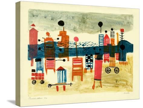 Bathing Hut-Anneliese Everts-Stretched Canvas Print