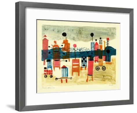 Bathing Hut-Anneliese Everts-Framed Art Print