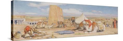 The Caravan - an Arab Encampment at Edfou, C.1861-John Frederick Lewis-Stretched Canvas Print