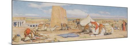 The Caravan - an Arab Encampment at Edfou, C.1861-John Frederick Lewis-Mounted Giclee Print